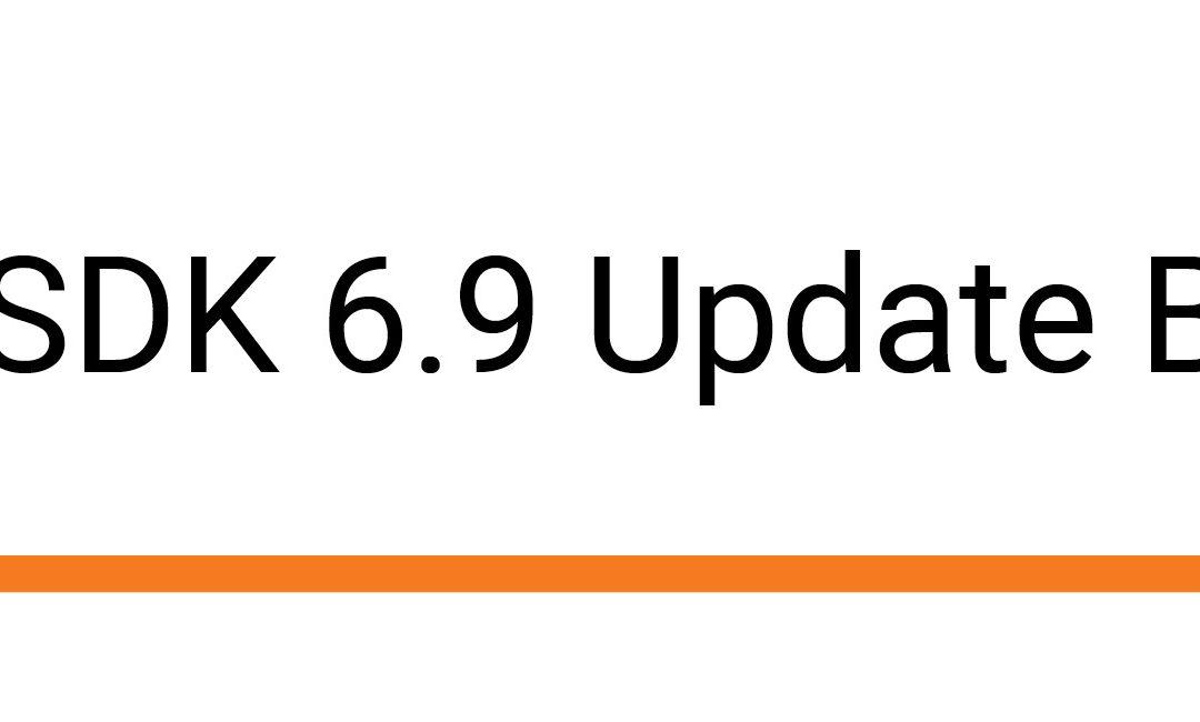 Dialogic SDK 6.9 Update Bug Fixed