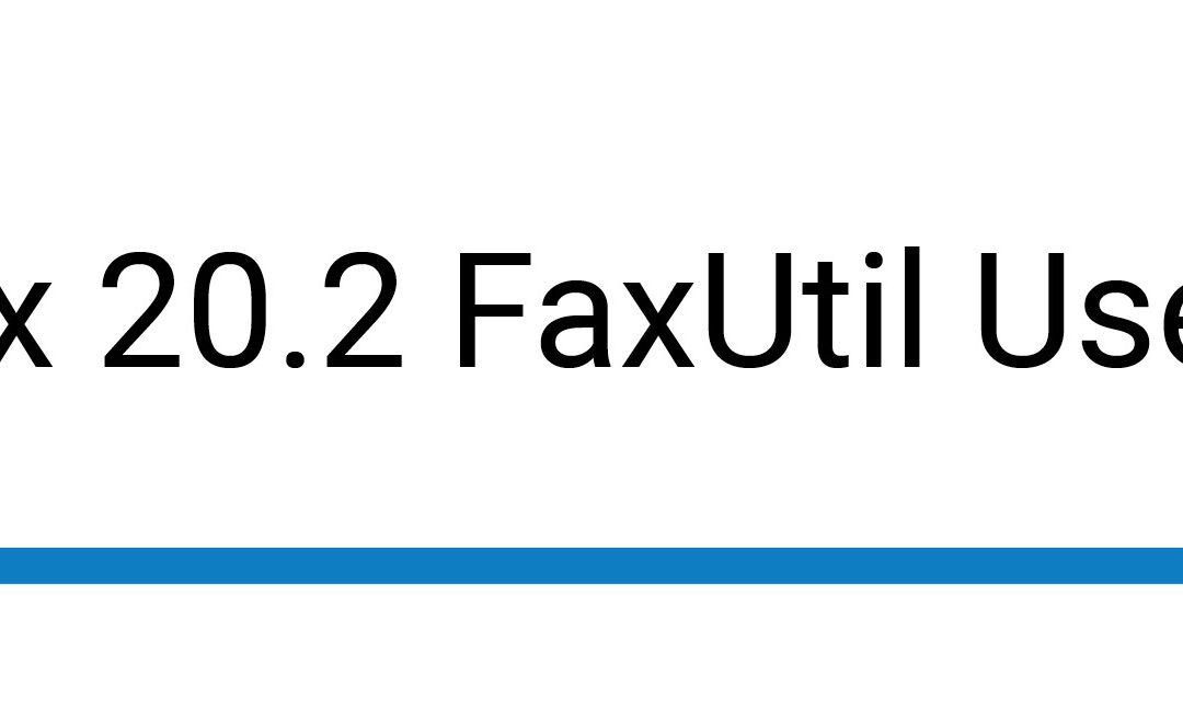 RightFax 20.2 FaxUtil User Guide