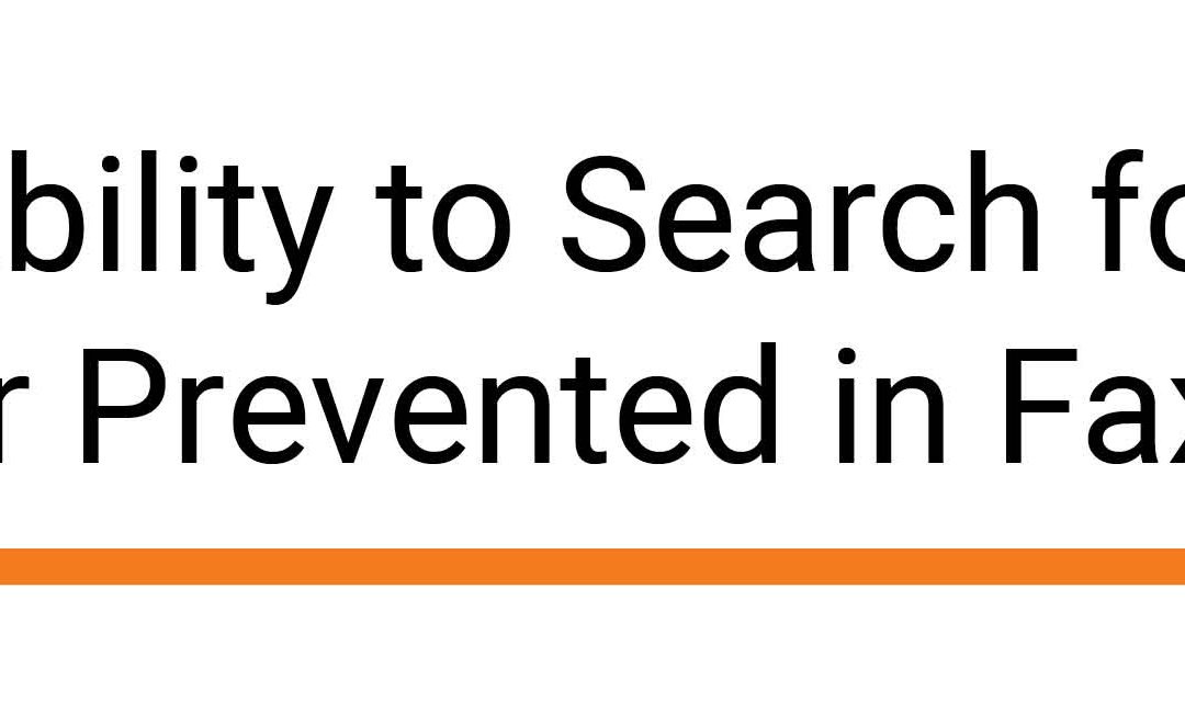 Ability to Search for User Prevented in FaxUtil
